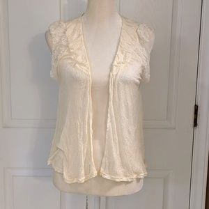 Free People Soft Flowy Cream Vest